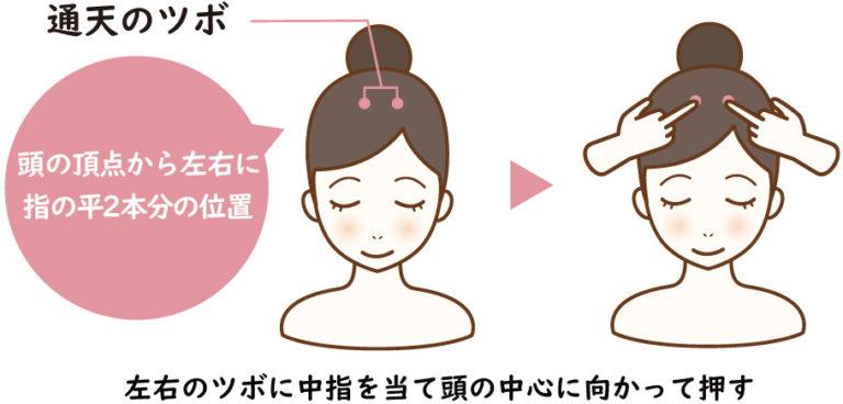 【鼻水を止める】通天(つうてん)鼻水や頭痛の解消にもいいツボ