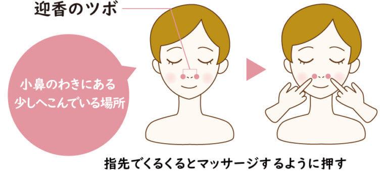 【鼻水を止める】迎香(げいこう)即効性を求めるならここ!鼻づまりにいいツボ