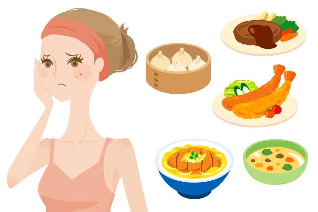 【ニキビと食べ物】ニキビと食べ物や飲み物の密接な関係性