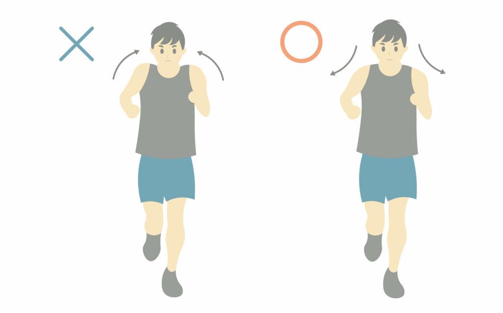 正しいランニングフォームのポイント③肩の力を抜く