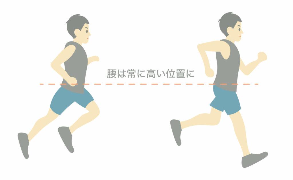 正しいランニングフォームのポイント⑤腰の位置を落とさない