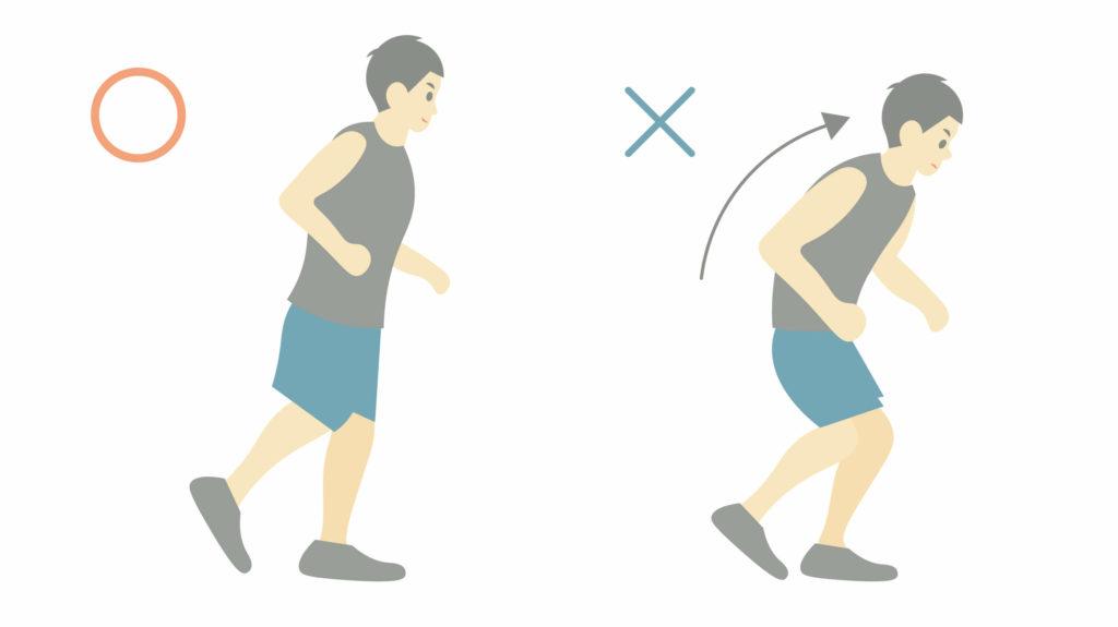 正しいランニングフォームのポイント①背筋をまっすぐに伸ばす