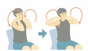 運動前のストレッチ④肩甲骨回し